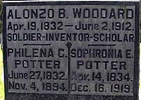 Tombstone of Alonzo Woodard and his wives - contributed by Jerry Woodard.